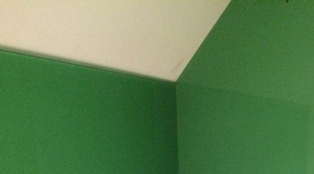 Badkamer - Private woning (Gistel) - Lacobel Jungle Green in inloopdouche