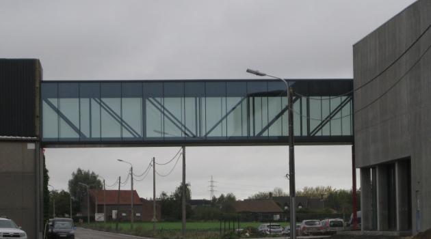 De Wulf - glazen passerelle glas-glas